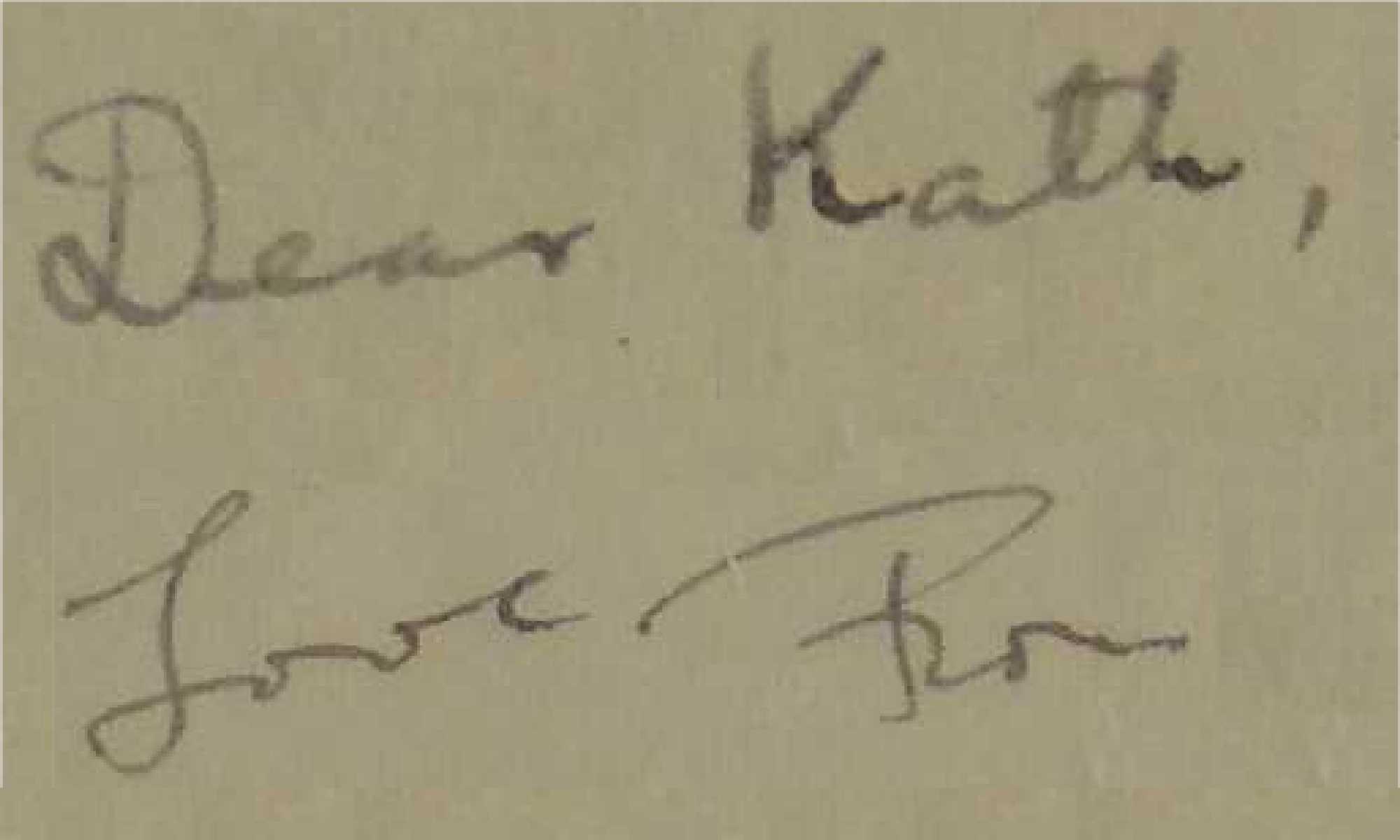 Dear Kath, Love Ron